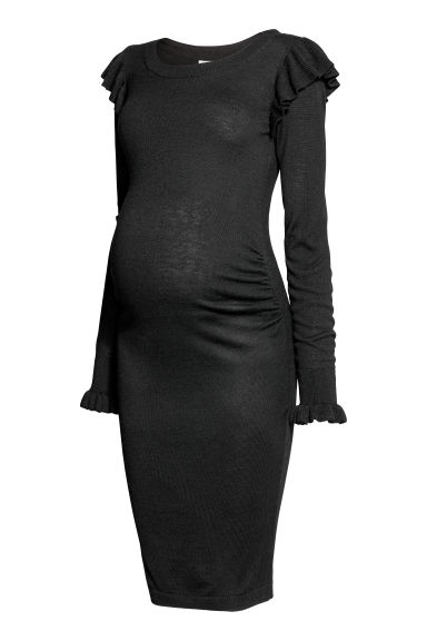 MAMA Knitted dress - Black - Ladies | H&M CN