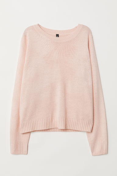 Knitted jumper - Powder pink -  | H&M