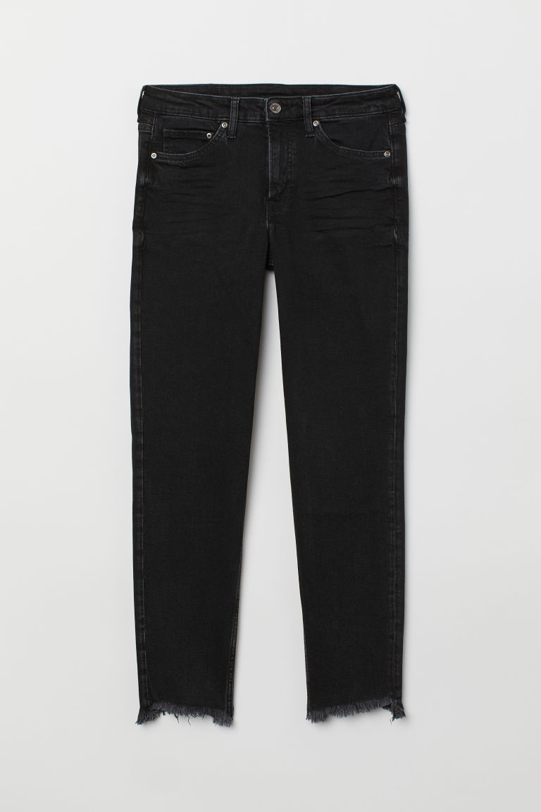 Girlfriend Regular Jeans - Svart - DAM | H&M FI
