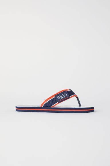 Flip-flops - Dark blue/Sharks - Kids | H&M