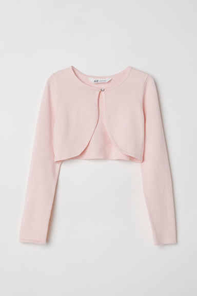 Fine-knit bolero - Light pink -  | H&M CN