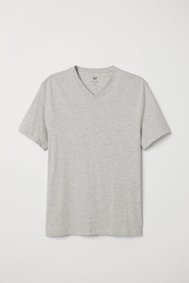 T-shirt - Regular fit - Lichtgrijs gemêleerd - HEREN | H&M BE