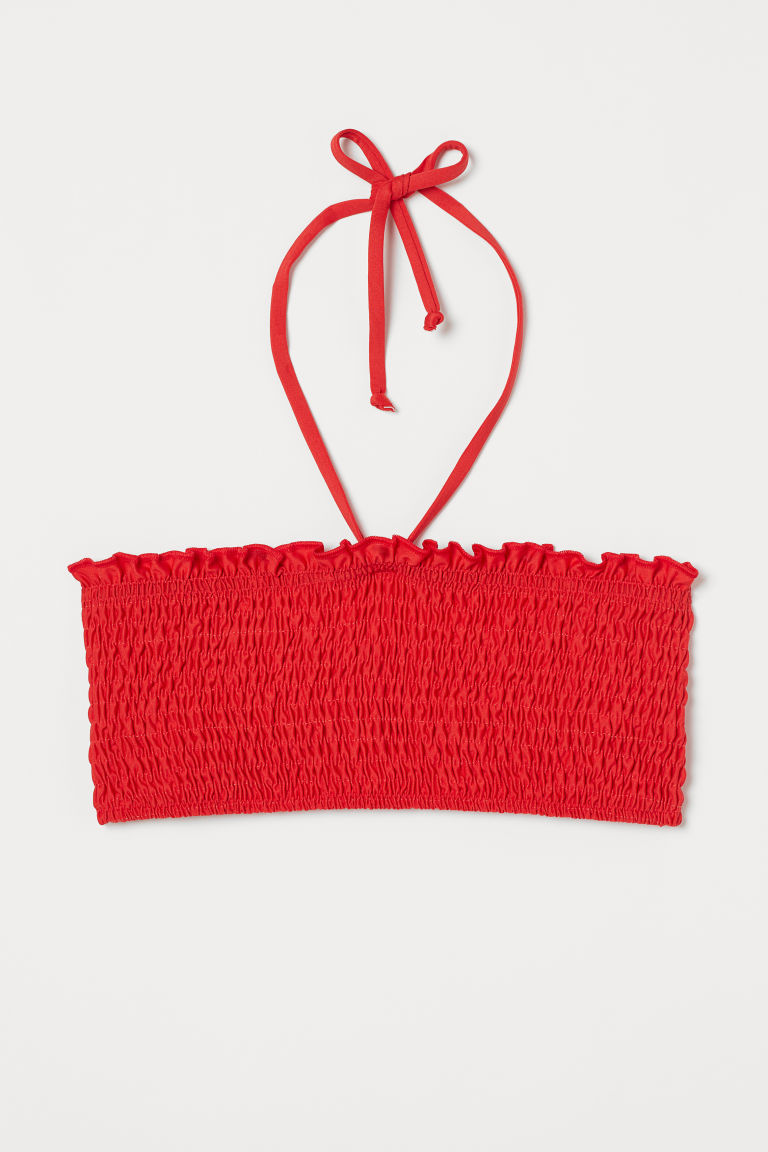 Bandeau bikini top - Red - Ladies | H&M