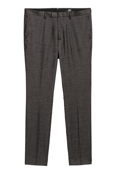 Suit trousers Skinny fit - Black marl -  | H&M CN