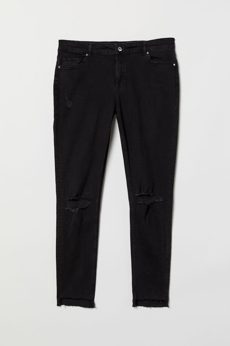 H&M+ Super Skinny Jeans - Black/Trashed - Ladies | H&M CN