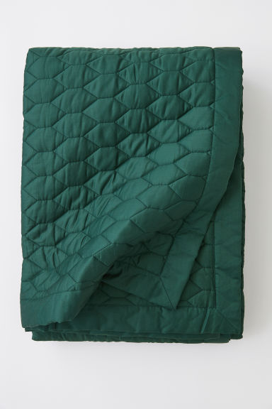 Copriletto trapuntato - Verde scuro - HOME | H&M IT