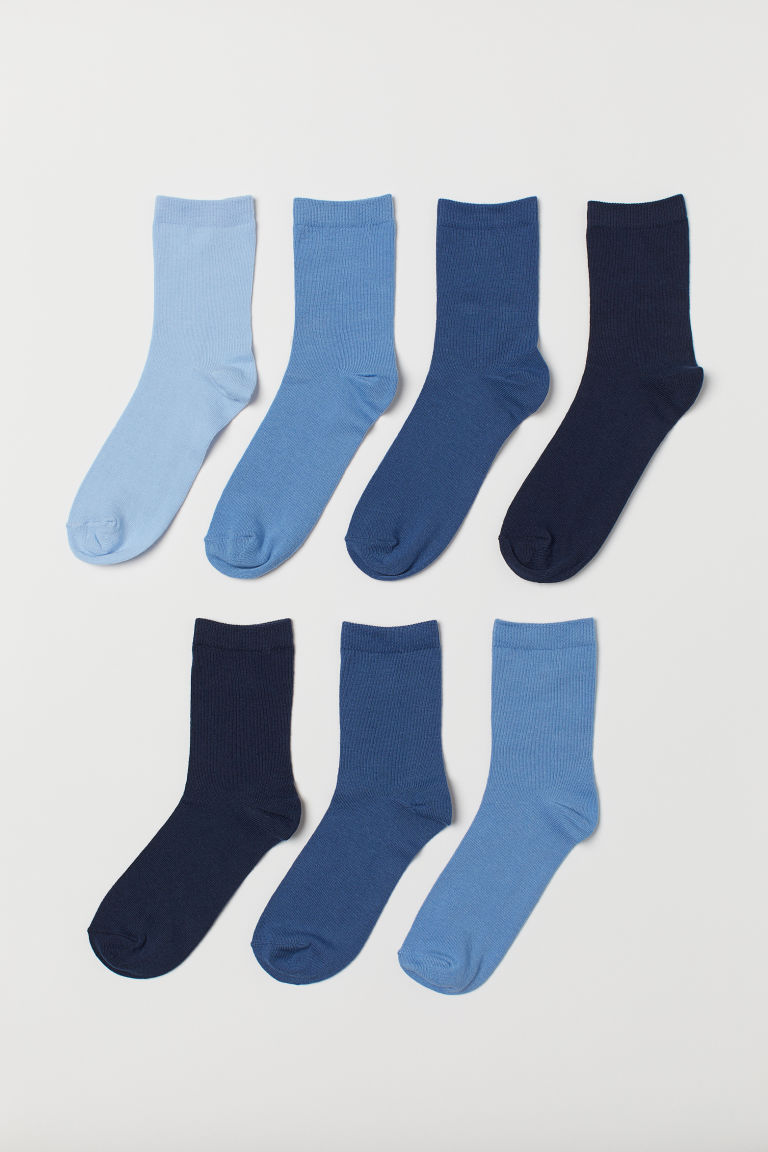 7-pack socks - Dark blue/Light blue - Kids | H&M IE