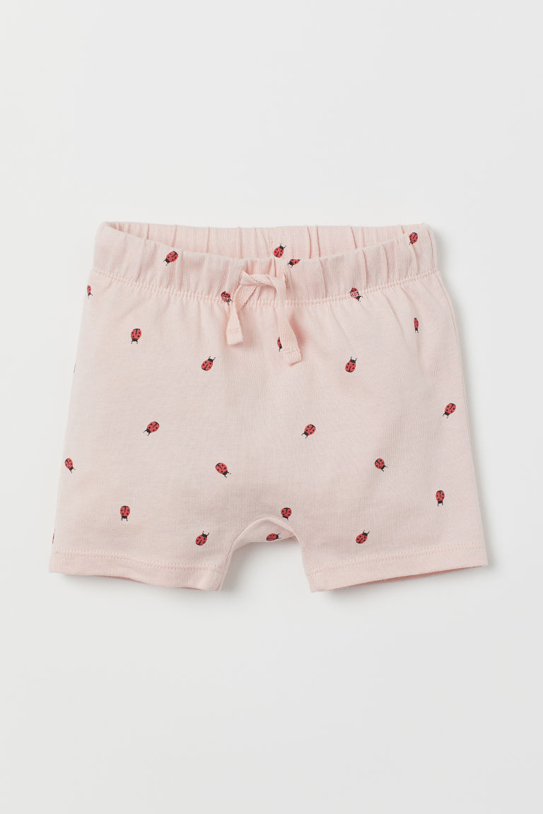 Jersey shorts - Light pink/Ladybirds - Kids | H&M