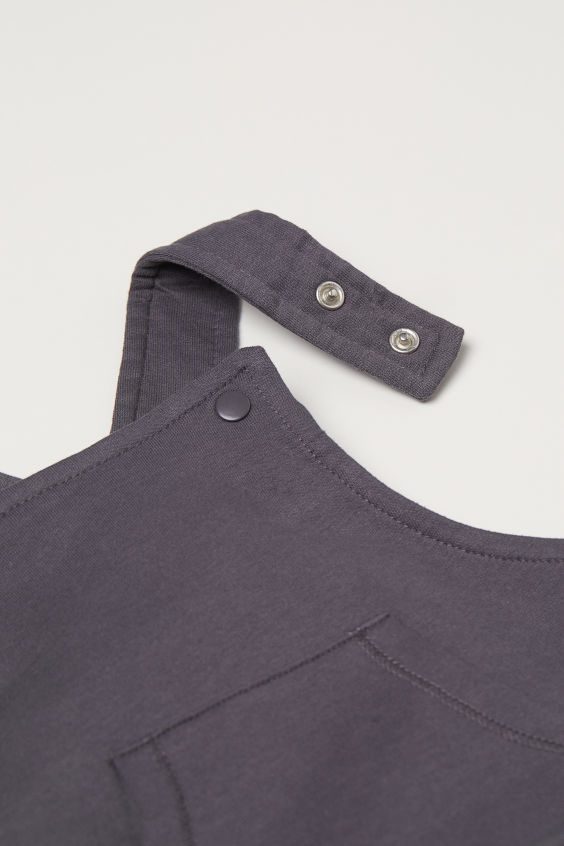 Cotton dungarees - Dark grey - Kids | H&M GB 2
