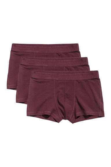 Set van 3 boxershorts - Trunk - Bordeauxrood - HEREN | H&M NL