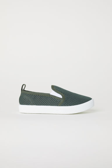 Slip-on trainers - Dark green -  | H&M