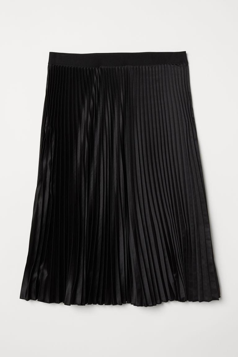 svart plisserad kjol hm