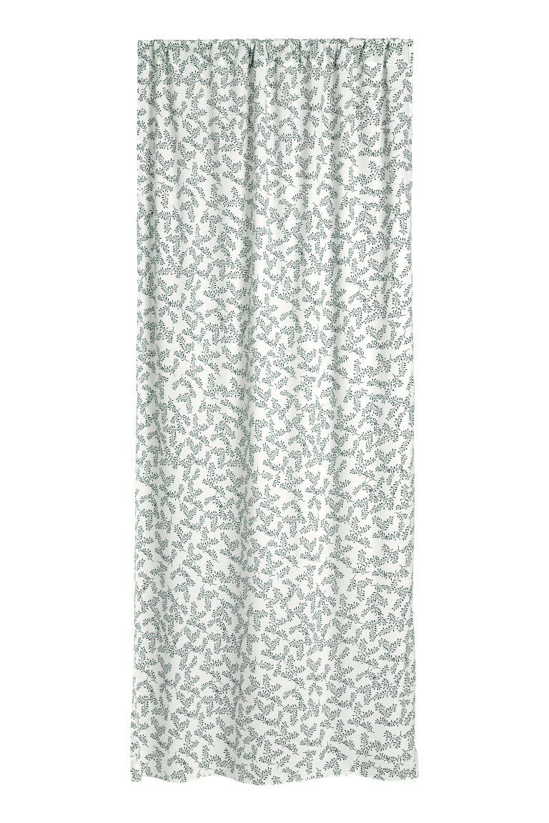 Cortinas estampadas, pack de 2 - Branco - HOME | H&M PT