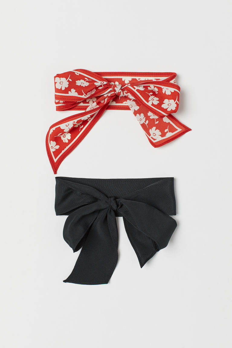 2-pack hairbands - Red/Floral -  | H&M CN