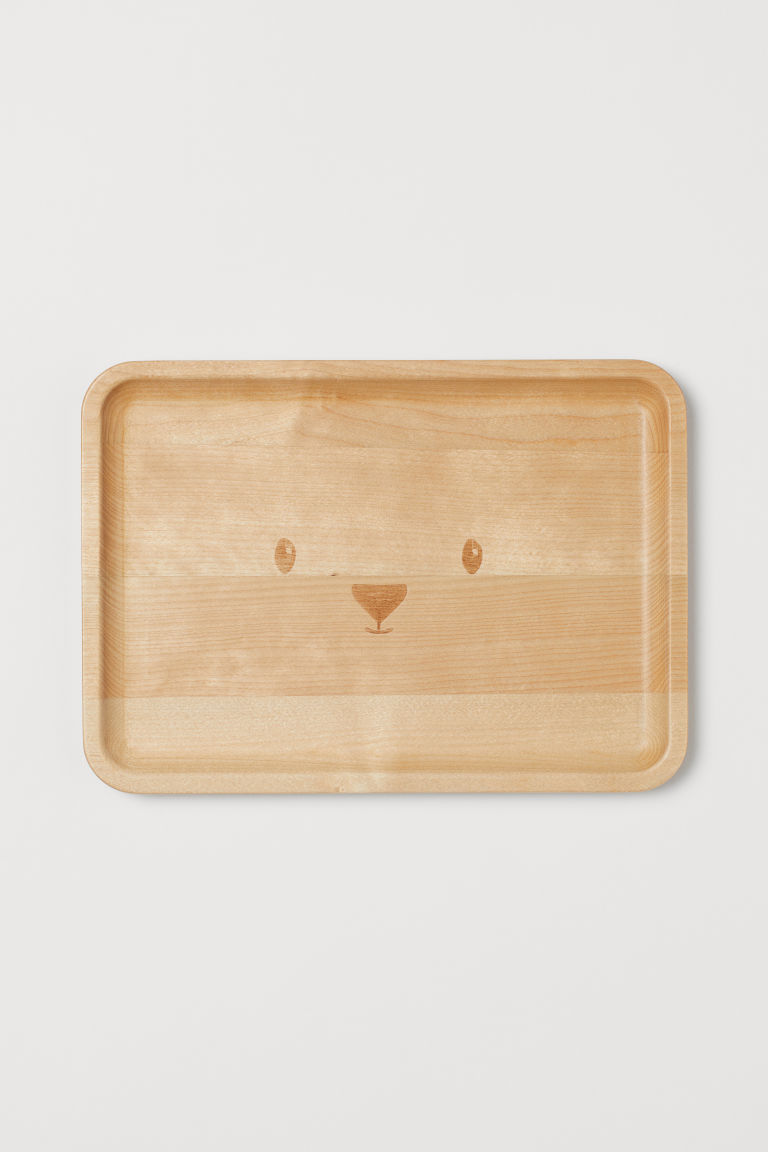 Small wooden tray - Natural - Home All | H&M CN