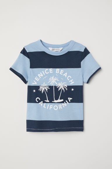 Patterned T-shirt - Dark blue/Venice Beach - Kids | H&M CN