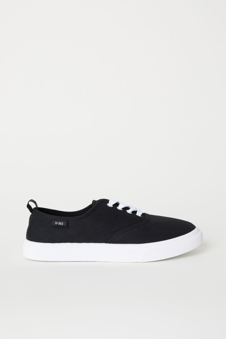 Canvas trainers - Black -  | H&M
