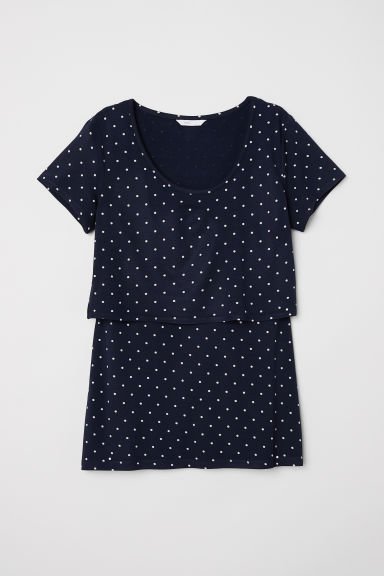 MAMA Nursing top - Dark blue/Spotted -  | H&M CN