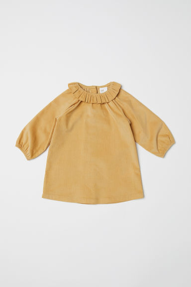 Corduroy dress - Mustard yellow - Kids | H&M