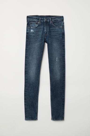 Super Skinny Jeans - Denim blue/Trashed - Men | H&M CN