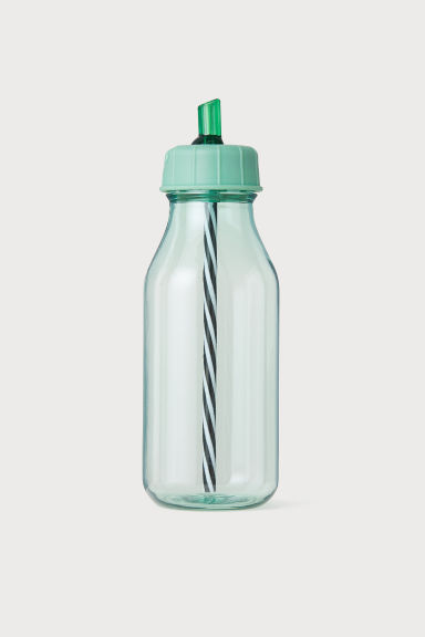 Bottle with a straw - Green - Ladies | H&M