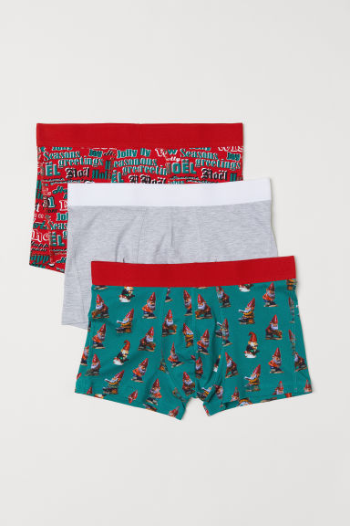 3-pack boxer shorts - Red/Patterned - Men | H&M
