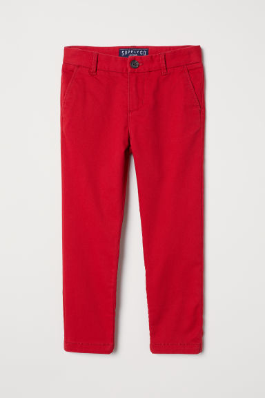 Cotton Chinos - Red - Kids | H&M US