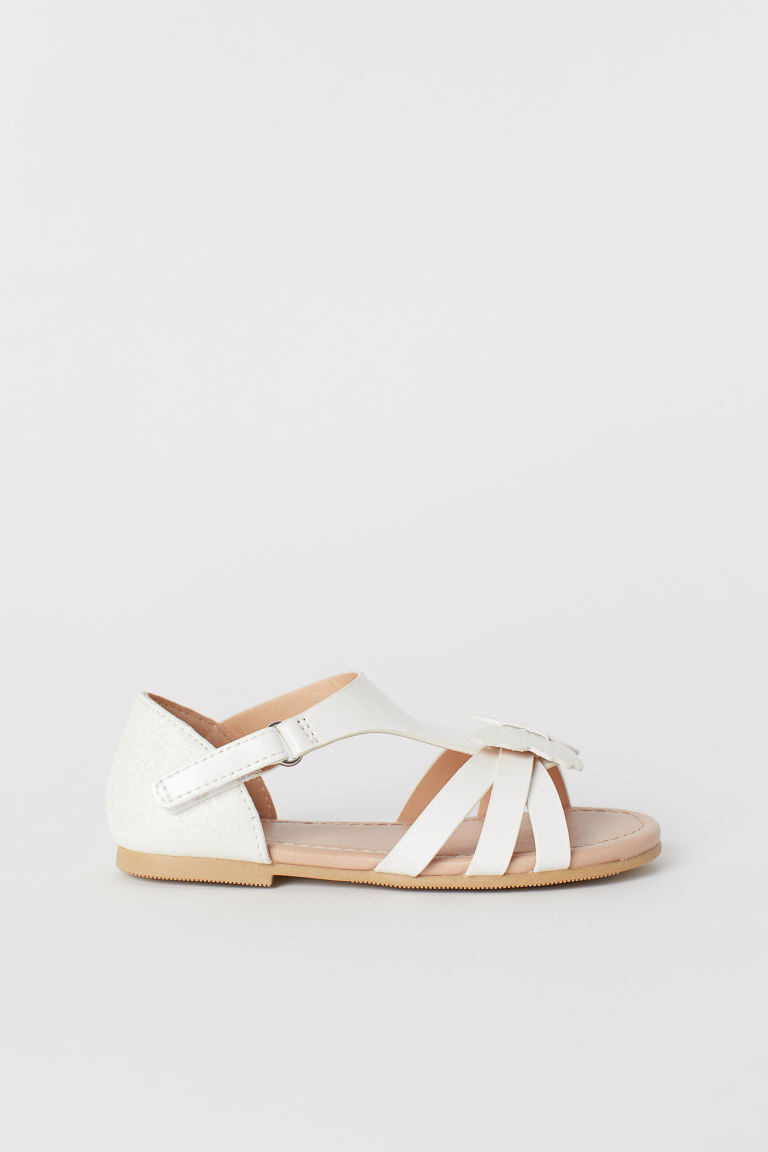 Sandals with Butterflies - White - Kids | H&M US