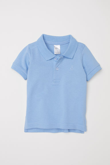 Polo shirt - Light blue -  | H&M CN