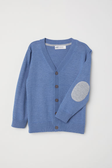 Fine-knit cardigan - Blue - Kids | H&M