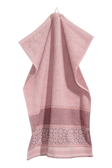 Jacquard-weave hand towel - Pink - Home All | H&M GB