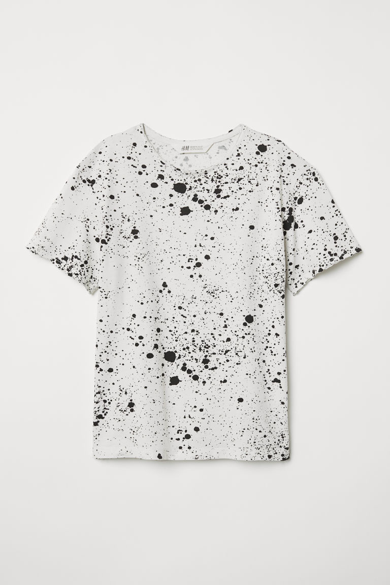 Printed T-shirt - Light grey/Patterned - Kids | H&M CN
