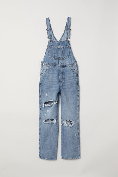 Salopetă de denim - Albastru-denim -  | H&M RO