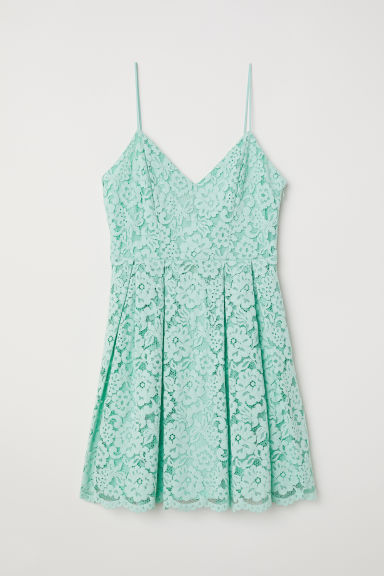 Lace dress - Mint green - Ladies | H&M CN