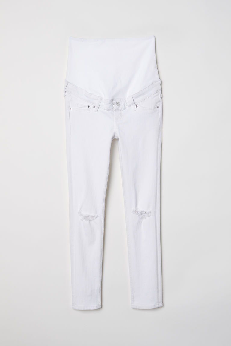 MAMA Skinny Ankle Jeans - White denim - Ladies | H&M