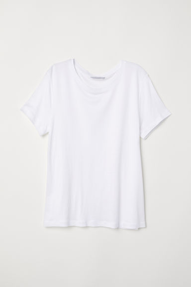 Jersey top with a sheen - White - Ladies | H&M