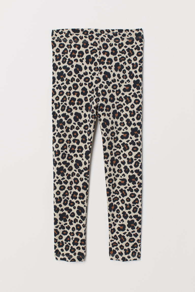 Leggings con stampa - Beige/leopardato - BAMBINO | H&M IT
