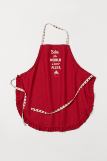 Ruffle-trimmed Apron