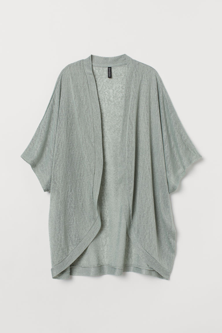 Fine-knit cardigan - Light green -  | H&M IN
