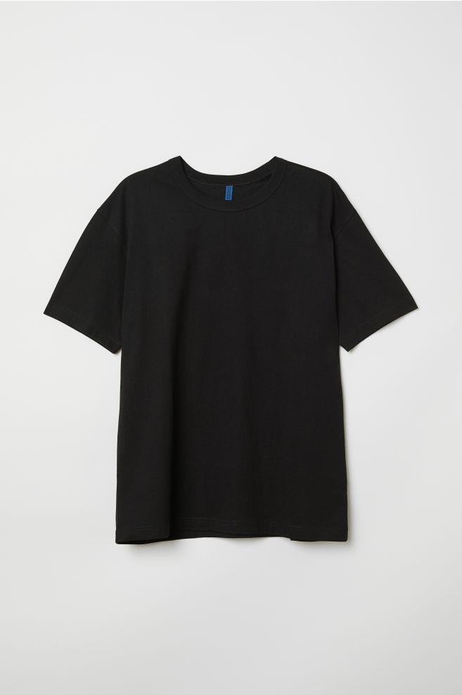 bf4f05b28fd92 T-shirt en coton - Noir - HOMME