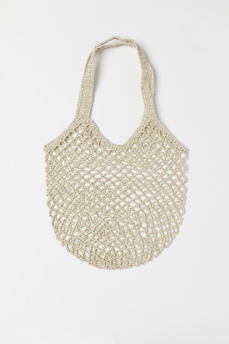 Borsa a rete - Bianco naturale/argentato - DONNA | H&M IT