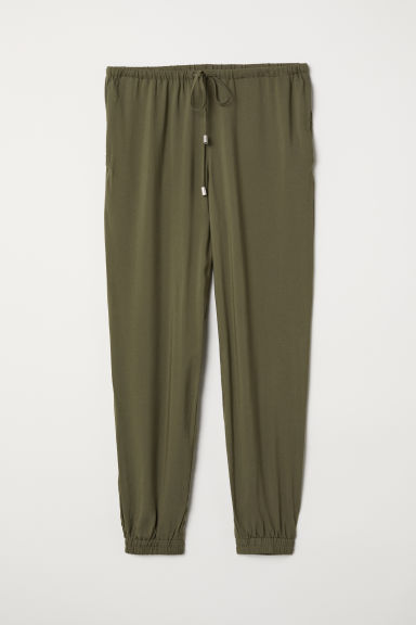 Pull-on trousers - Khaki green - Ladies | H&M IN