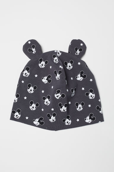 Jersey hat - Dark grey/Mickey Mouse - Kids | H&M
