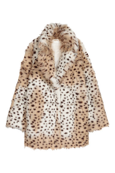 Faux fur jacket - Leopard print -  | H&M IE