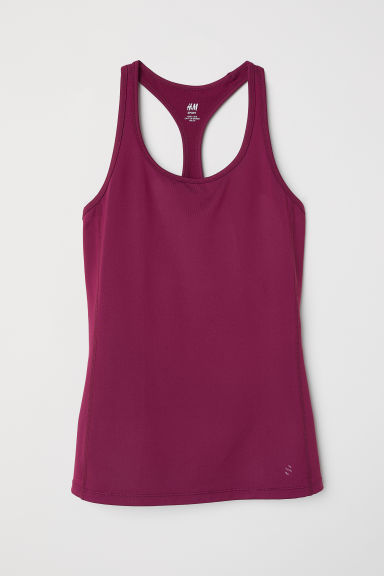 Sports vest top - Plum - Ladies | H&M CN