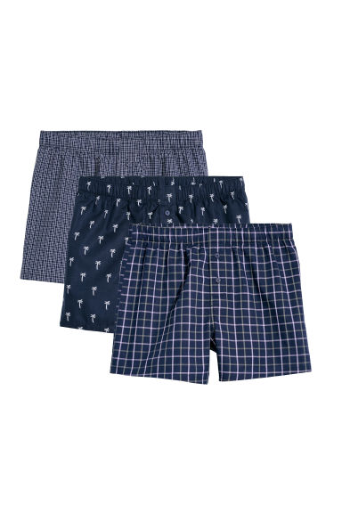 3-pack woven boxer shorts - Dark blue -  | H&M