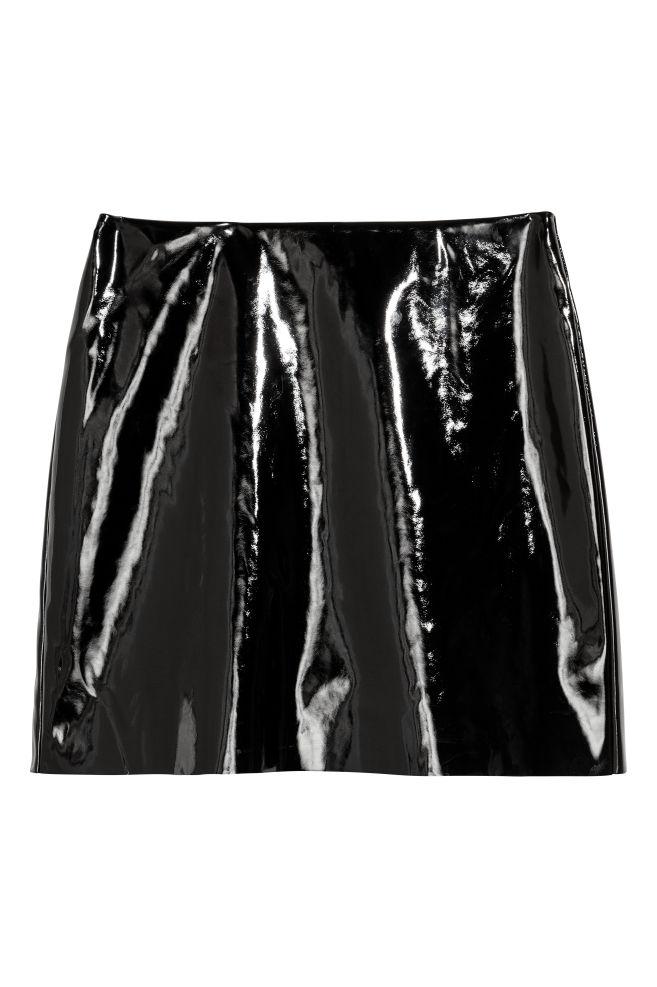 84952ecd01ffb Patent skirt - Black - Ladies