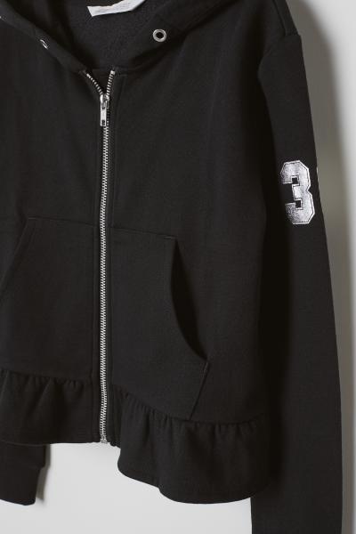 H&M - Veste zippée avec volant - 2