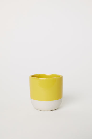 Stoneware mini plant pot - Dark yellow - Home All | H&M CN