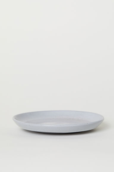 Stoneware plate - Light grey - Home All | H&M CN